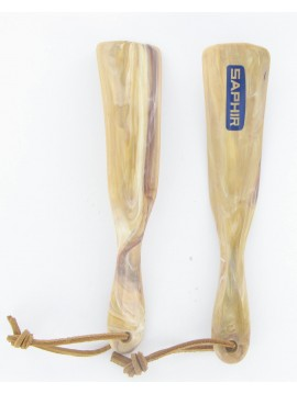 Calzador plastico correa de cuero Saphir 18 cm