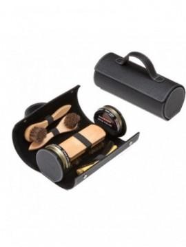 Kit de viaje negro para el cuidado del calzado Tarrago TCV13