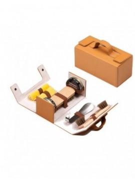 Light Brown Shoe Travel Kit