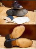 Half italian soles machine stich + new heels