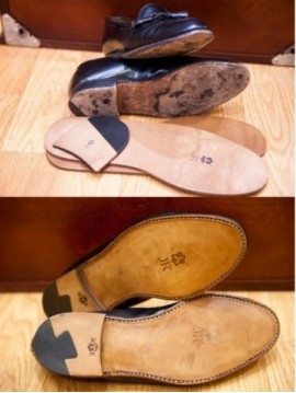JR New leather soles + new heels machine stitch