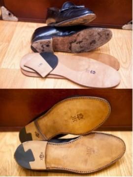 JR New leather soles + new heels machine stitch